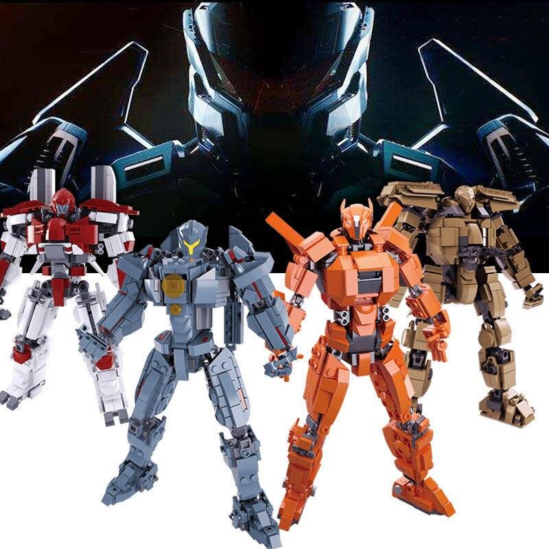 Robot Toy Movie War Danger And Battle Damage Model Building Blocks Sets DIY Creator Brinquedos Bricks Kits Educational Kids Toys